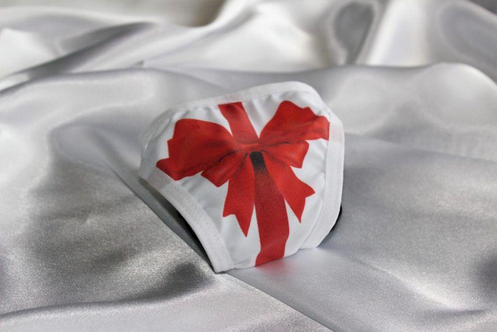 calcinha com estampa digital na feira erótica