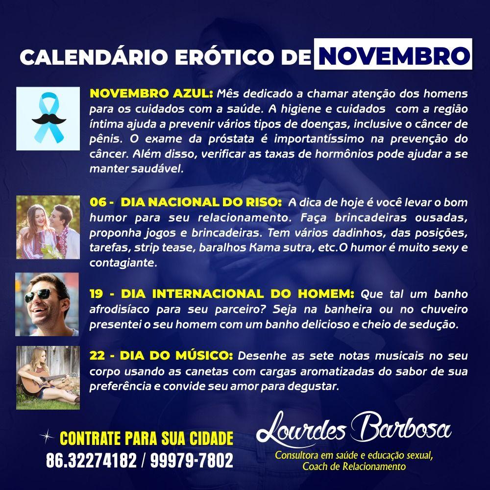 Calendário Erótico de Novembro