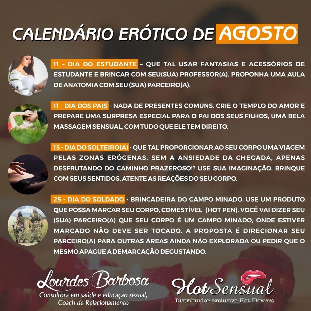 calendário erótico de agosto