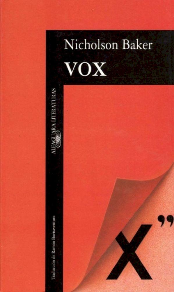 Vox de Nicholson Baker - Romances Eróticos