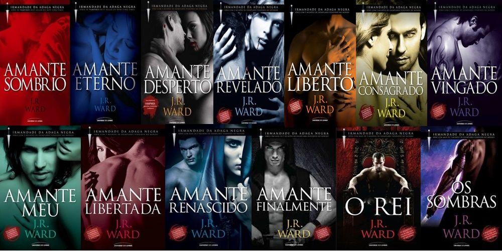 A série da Irmandade da Adaga Negra de JR Ward - Romances Eróticos